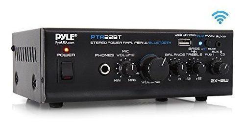 Amplificador De Audio Para El Hogar De La Serie Mini Azul Bl