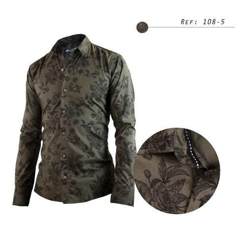 Camisa De Hombre Informal,diseños, Manga Larga