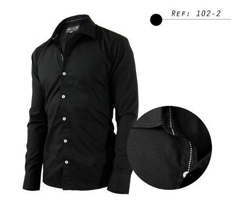 Camisa De Hombre Informal,manga Larga,diseño Cuello