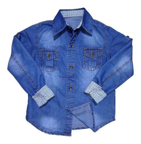 Camisa De Niño En Índigo Jeans Suave
