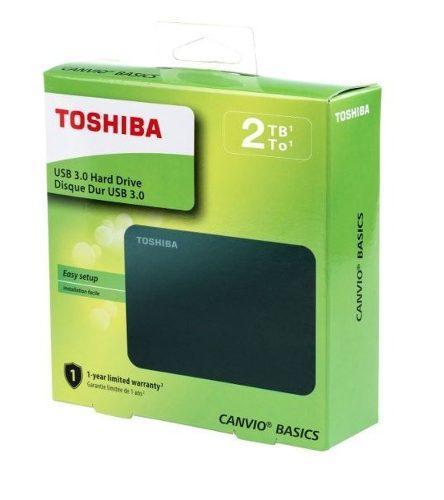 Disco Duro Externo Toshiba 2 Tb Usb 3.0 Canvio