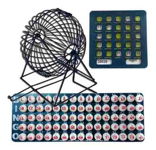 Juego De Bingo Grande Completo + 50 Tablas Plasticas