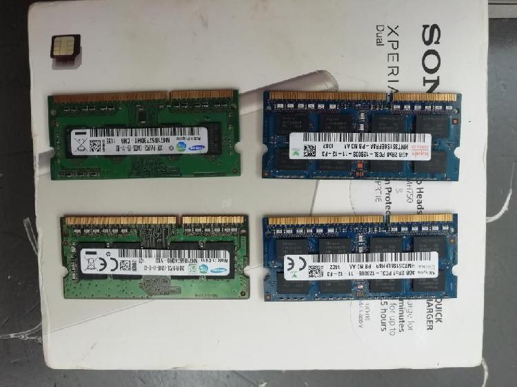 Memorias Ddr3 de 4gbs Y 2gbs