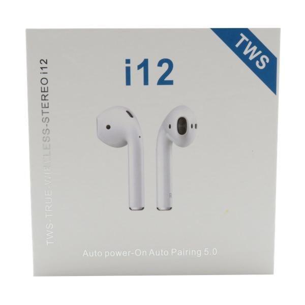 Audifonos Bluetooth I12 PLUS MEGA STEREO.