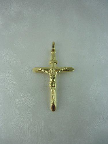 Dije Cristo En Oro 18k Para Hombre Ref: 28382