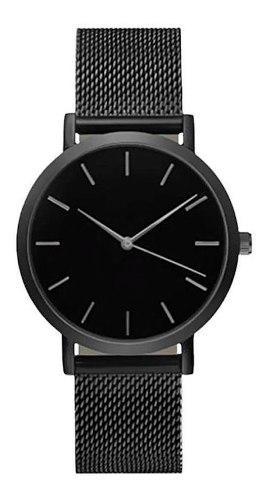 Reloj Mujer Analogico Acero Inoxidable Dec19 Negro