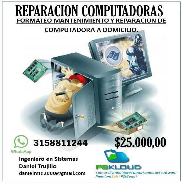 Formateo Y Reparación de Computadoras y Portatiles