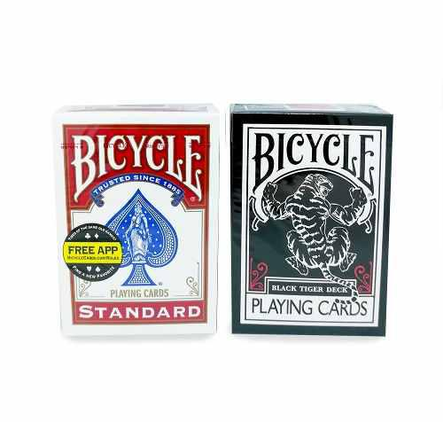 Pack 2 Cartas Black Tiger + Bicycle Standard Magia Poker
