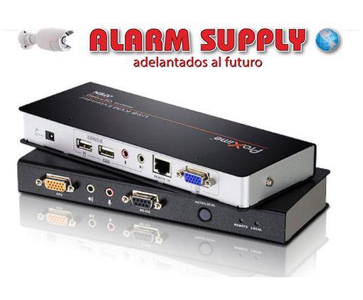 Alargador KVM Cat 5 VGA/Audio USB con compensación de