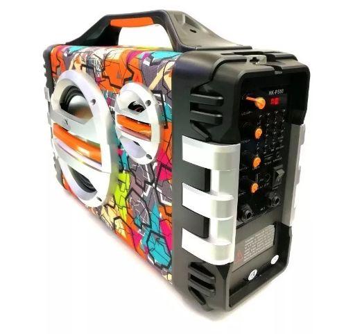Cabina Parlante Recargable Bluetooth Karaoke Usb Radio F