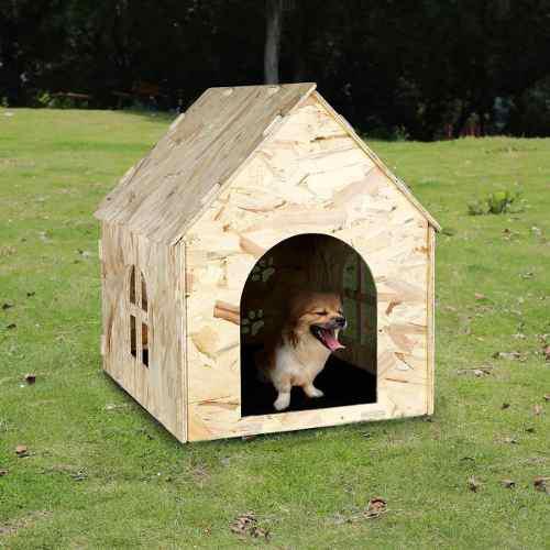 Casa De Madera Para Mascotas, Casa De Perrera Al Aire...