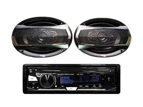 Combo Radio Para Carro Usb + Parlantes Kl Audio Ovalados 6x9