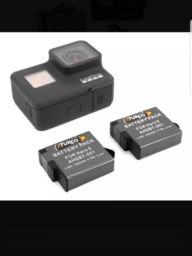 Kit Gopro 7 Black, 2 Baterias Y Cargador