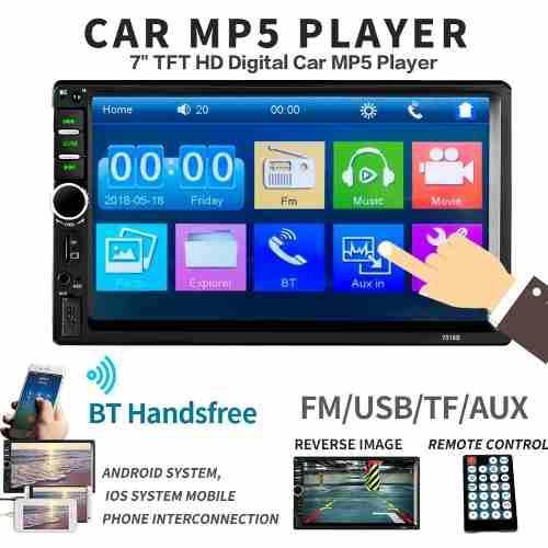 Nuevo Radio Pantalla 2 Din Bluetooth Mp5 Usb Mirrorlink 2019