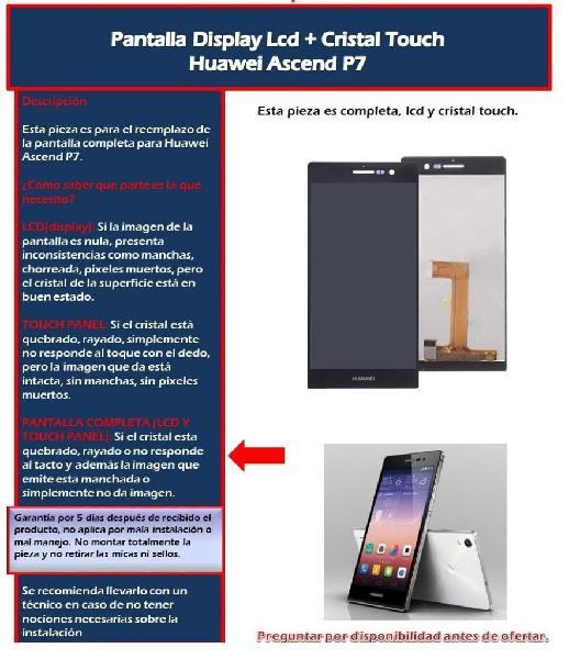 Pantalla Display Tactil Huawei p8 lite p7 p9 Lite Y7 Prime