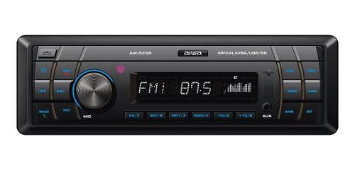 Radio Carro Bluetooth Usb Am Fm Mp3 Desmontable Aiwa Aw-5239