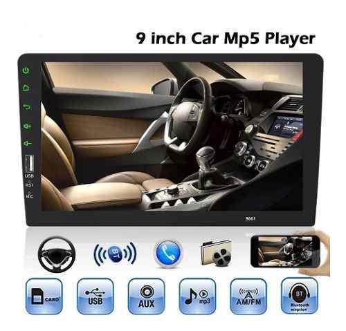 Radio Pantalla 9 Táctil 1 Din Bluetooth Mp5 Usb Cámara