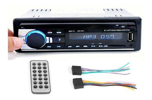 Radio Para Carro Con Usb Fm Bluetooth Sd Aux Potencia 60wx4