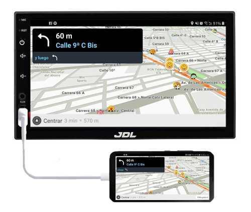 Radio Para Carro Mirror Link Tactil 7'' Bluetooth Doble Din