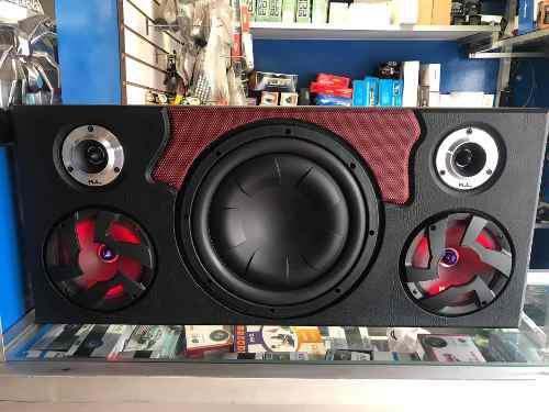 Sonido Caja Acustica Columna Plana Bajo12 Kl Audio