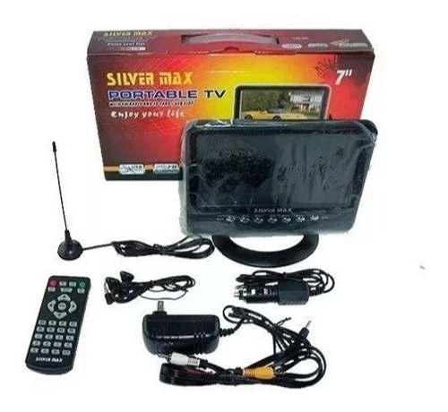 Televisor Portátil Con Tdt 7 Pulgadas Silvermax
