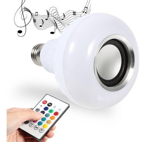 Bombillo Luz Led Multicolor Bluetooth Parlante Control