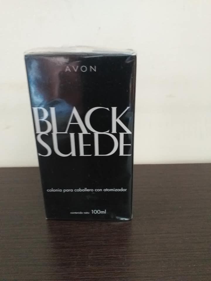 colonia perfume para hombre Avon Blac suede
