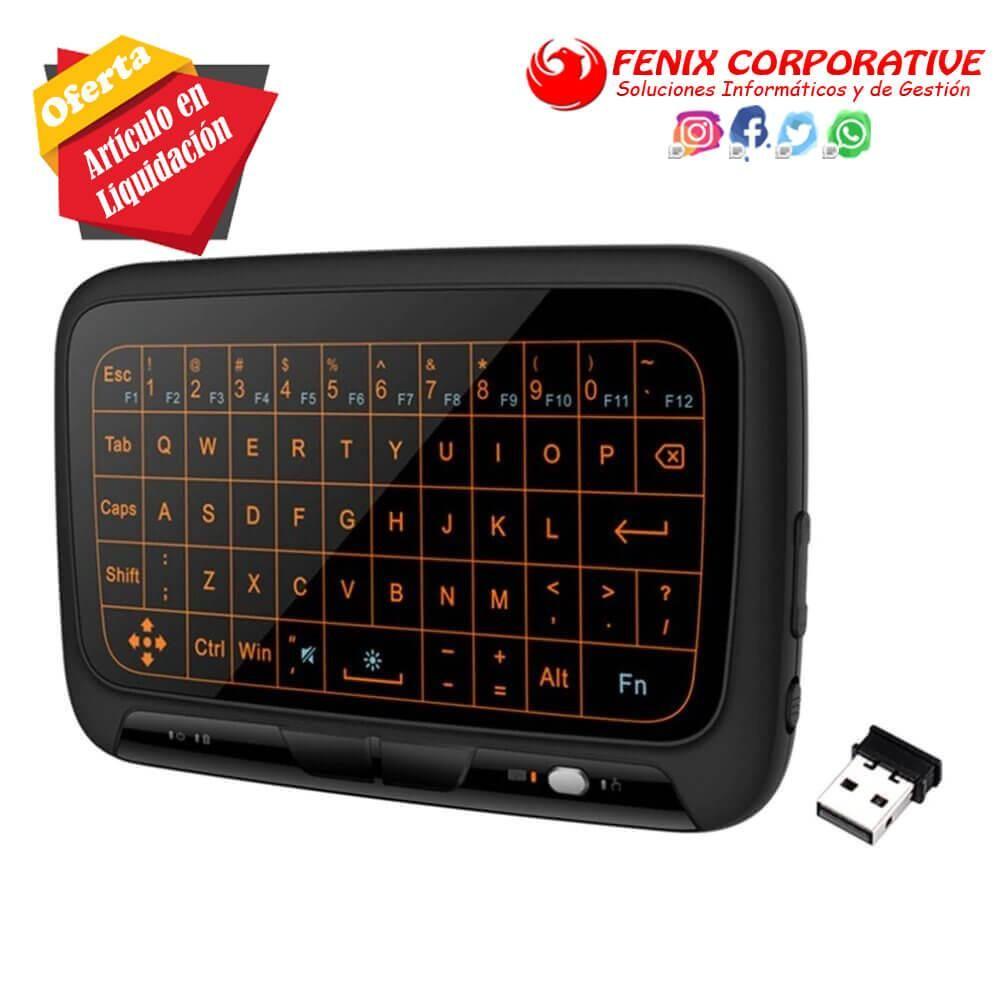 Mini teclado inalámbrico remoto táctil teclado Combo para
