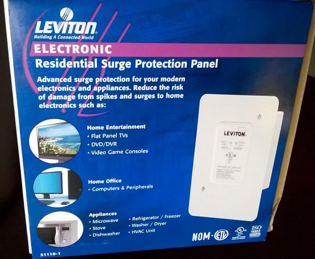 Protector Voltaje DPS Leviton para Casa o Apartamento Nuevo
