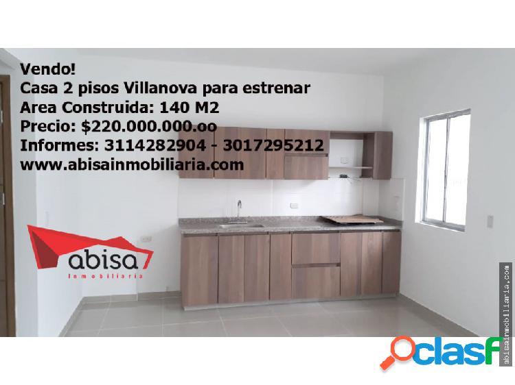 Casa para estrenar en Villanova de 2 pisos