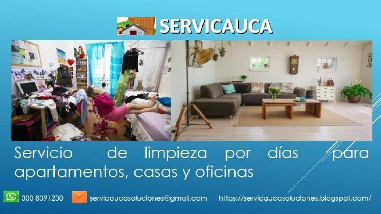 Servicio de aseo y limpieza para hogares y empresas