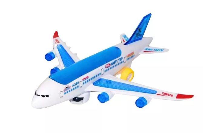 Avión Juguete Con Luces Sonido Movimiento Niños Bebe