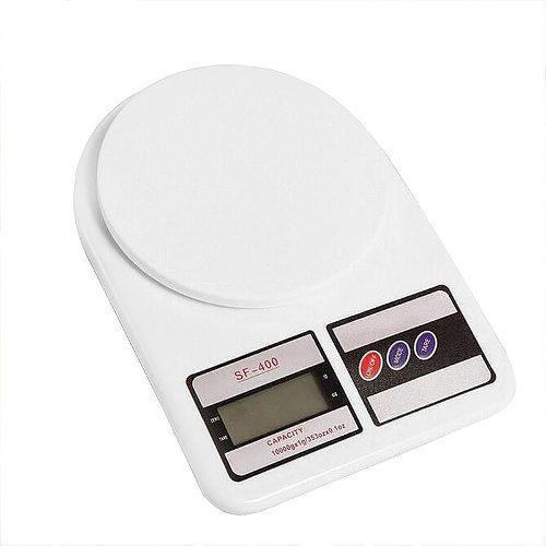 Pesa Bascula Gramera Digital Precisión 10000gr 10kg Blanco