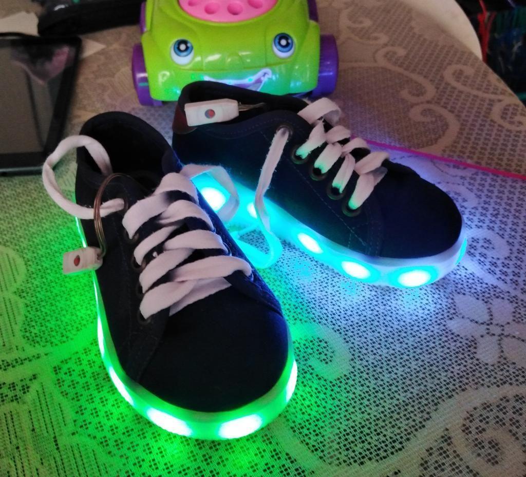 Zapatos Luz Led Recargables para Niña