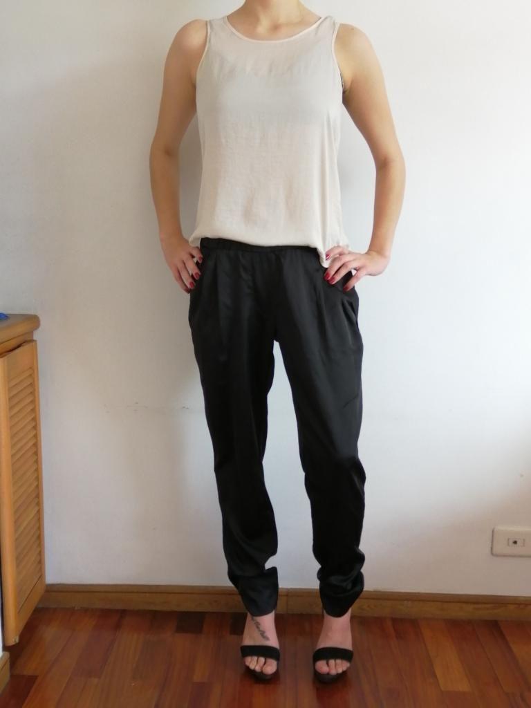 Pantalón Negro de Seda