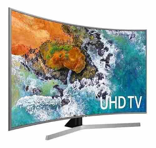 Televisor Samsung 55nu7500 55p Curvo 4k Smarttv Plateado Sli
