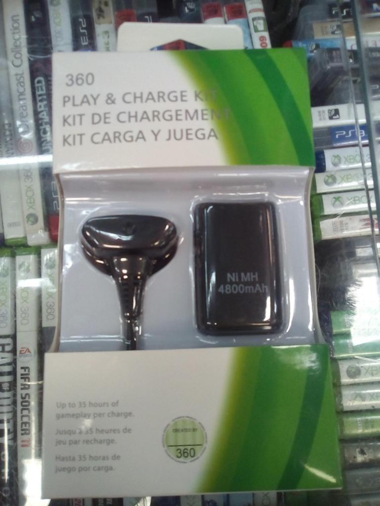 CARGA Y JUEGA  amperios control de xbox 360