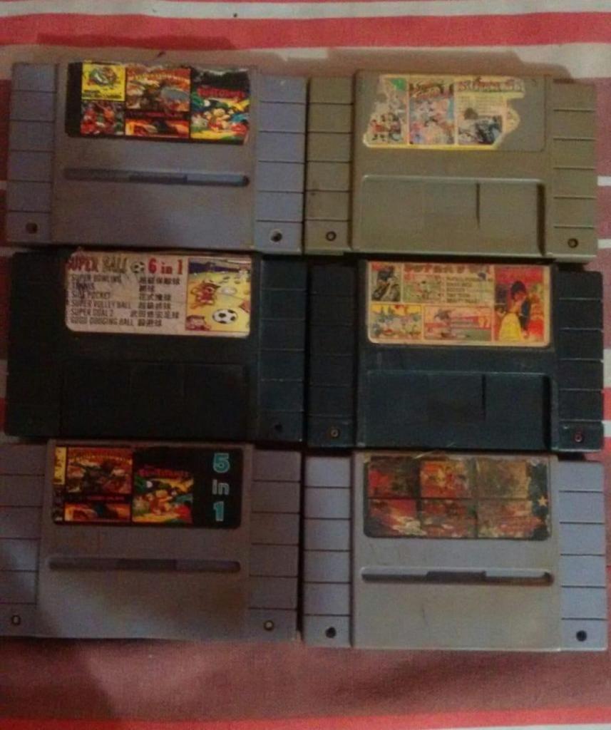 Juegos Super Nintendo 5 y 6 en 1