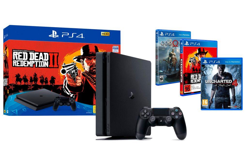 PlayStation 4 Slim 500gb con 3 Juegos - Perfecto estado