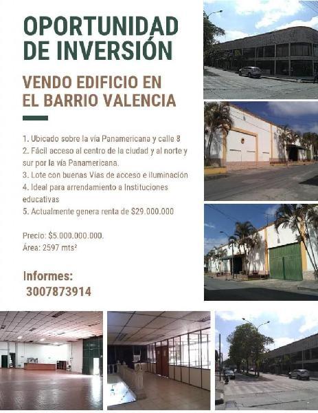 VENDO EDIFICIO PARA INVERSIÓN EN EL BARRIO VALENCIA