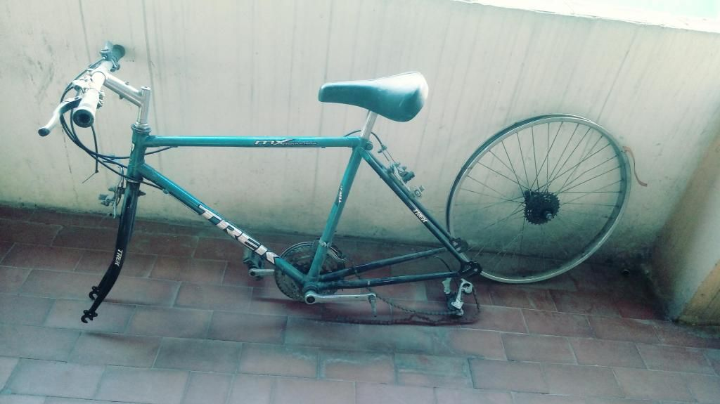 vendo cambio marco de bicicleta,tenedor, manubrio y rin