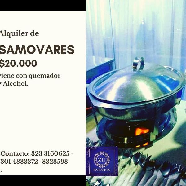 ALQUILER DE SAMOVARES 3014333372. BARRANQUILLA