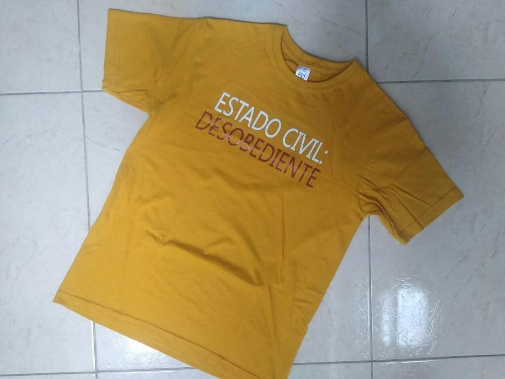 Camiseta Talla S Hombre Estampada