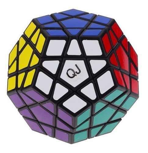 Cubo Rubik Megaminx Qj Dodecaedro Fondo Negro