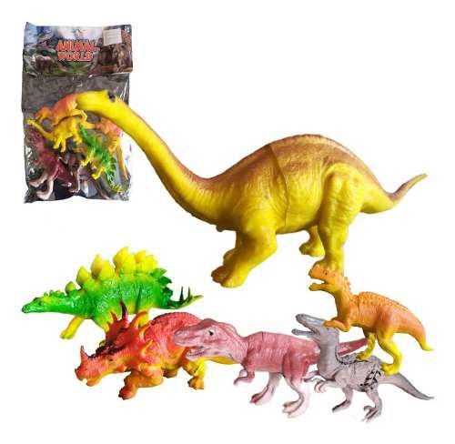 Dinosaurio Juguete Didáctico X6 Figuras Juguetería