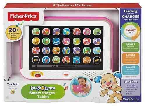 Tablet De Aprendizaje Fisher Price En Español Color Rosada