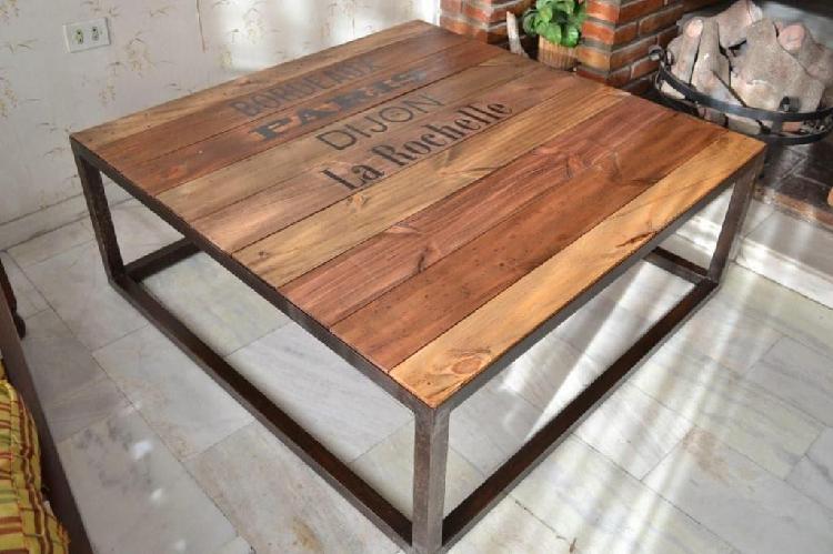 mesa de centro estilo retro