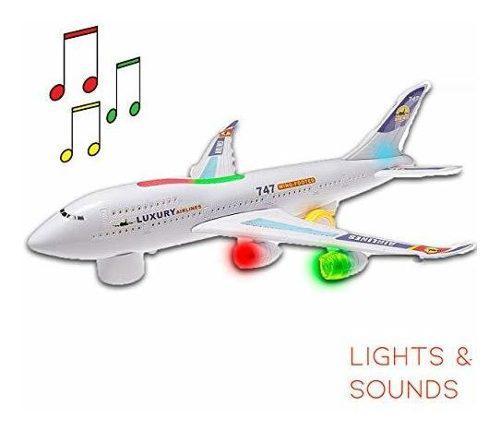 Boeing Hoovy 747 Juguete De Avion Para Niños Con Luces Y So