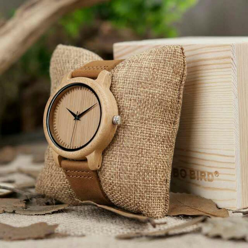 Reloj de Madera Bambú
