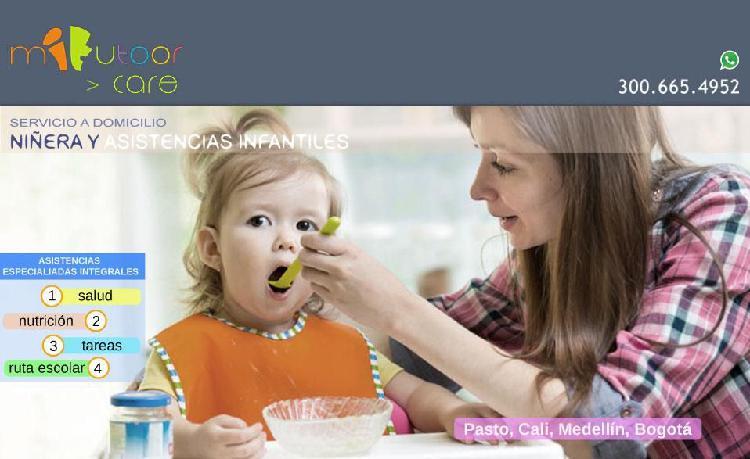 Servicio de niñera a domicilio Pasto y otras ciudades
